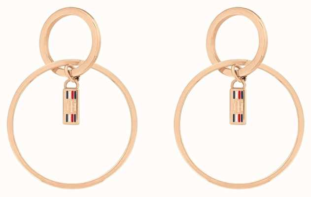 Tommy Hilfiger | Dressed Up | Ladies Circle Rose Gold Tone Earrings | 2780322