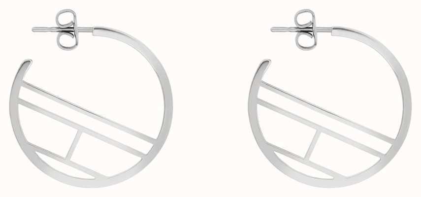 Tommy Hilfiger | Casual | Women's Stainless Steel Flag Hoop Earrings | 2780328