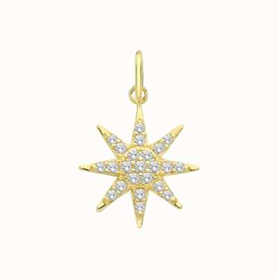 James Moore TH 9ct Yellow Gold Multi Cubic Zirconia Star Pendant Only PN1176