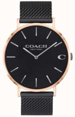 Coach | Men's Charles | Black Mesh Bracelet | Black Dial | 14602470
