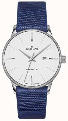 Junghans Meister Ladies Automatic Blue Leather 027/4046.00