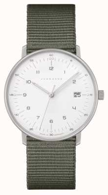 Junghans Max Bill Damen | Grey Nylon Strap | White Dial 047/4051.04