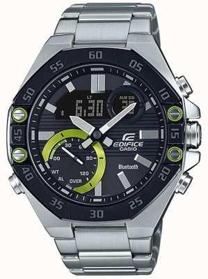 Casio | Edifice Bluetooth | Gunmetal Grey | Black Dial ECB-10DB-1AEF