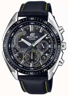 Casio | Edifice | Chronograph | Black Leather Strap | Black Dial EFR-570BL-1AVUEF