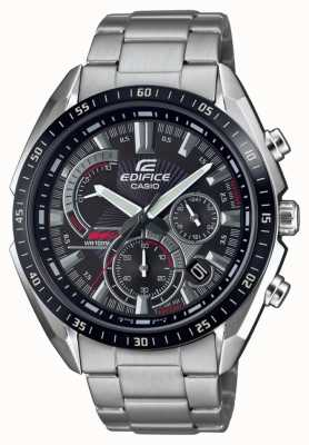 Casio   Edifice   Steel Bracelet   Stop Watch   Black Dial EFR-570DB-1AVUEF