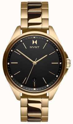 MVMT | Women's  Coronada | Gold-Tone Steel Bracelet | Black Dial 28000005-D