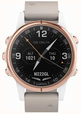 Garmin D2 Delta S Aviator | Beige Leather Strap 010-01987-31