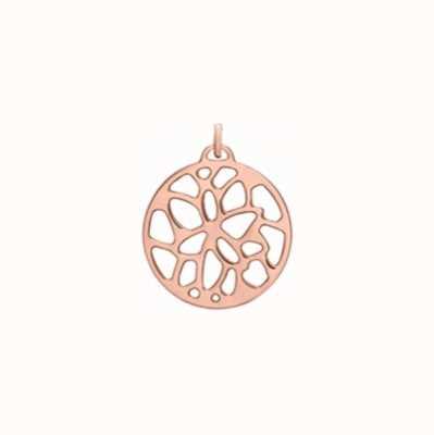 Les Georgettes 25mm Nenuphar Rose Gold Round Pendant 70327884100000