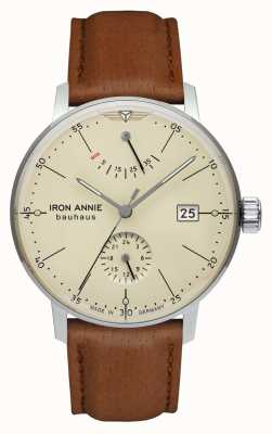 Iron Annie Bauhaus | Automatic | Light Brown Leather Strap | Beige Dial 5060-5