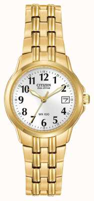 Citizen Womens Bracelet Gold Plated Eco-Drive EW1542-59A