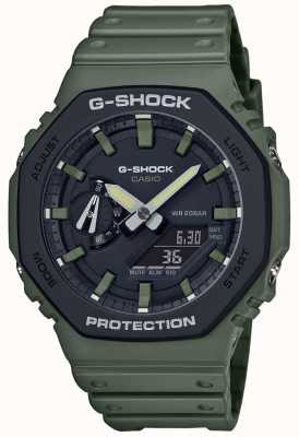 Casio G-Shock | Carbon Core | Green Rubber Strap | Digital Display GA-2110SU-3AER
