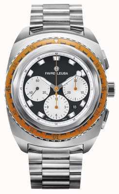Favre Leuba Raider Sea Sky | Stainless Steel Bracelet | Black/White Dial 00.10103.08.13.20