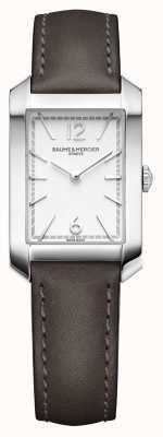 Baume & Mercier Lady Hampton | Opaline Silver Dial | Liqourice Leather Strap M0A10471