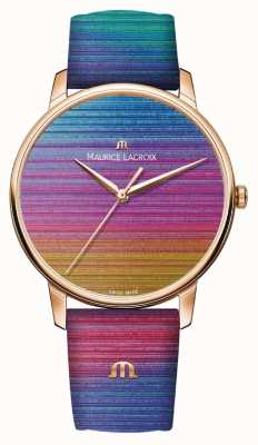 Maurice Lacroix Eliros Rainbow Limited Edition | Rainbow Leather Strap EL1118-PVP01-090-1