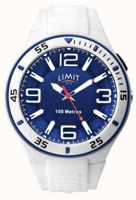 Limit Unisex | White Rubber Strap | Blue Dial 5763.65