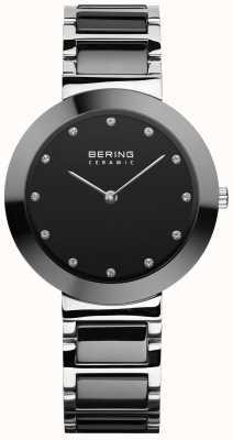 Bering Women's Ceramic | Black Ceramic Bracelet | Black Dial 11434-742
