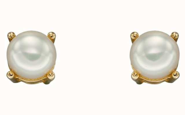 Elements Gold 9ct Yellow Gold Freshwater Pearl June Birthstone Studs GE2331