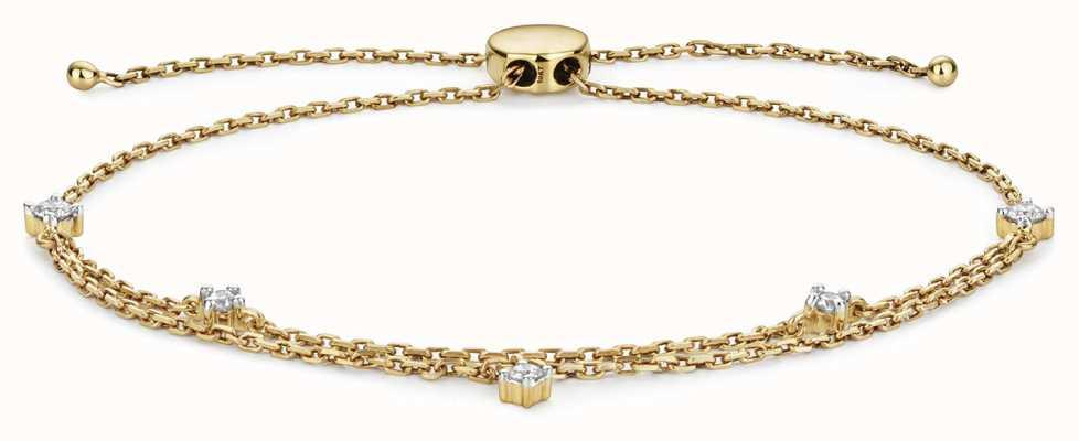 James Moore TH 9k Gold 0.25ct Diamond Adjustable Bracelet BD032