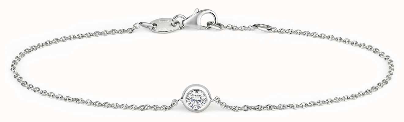 James Moore TH 18k White Gold 0.20ct Diamond Bracelet BDQ030W