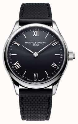 Frederique Constant Mens   Vitality   Smartwatch   Black Dial   Black Rubber FC-287B5B6