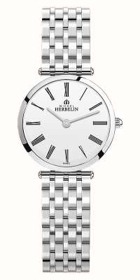 Michel Herbelin | Womens | Epsilon | Stainless Steel Bracelet | White Dial | 17116/B01N