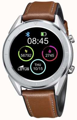 Lotus Men's | Smartime | Brown Leather Strap + Free Strap 50008/1