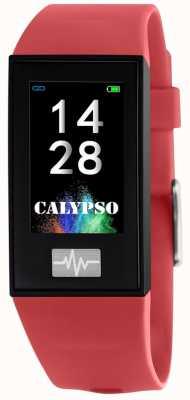 Calypso Unisex | Smartime | Red Silicone Strap + Free Strap K8500/4