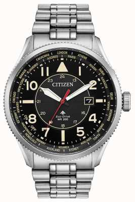 Citizen Eco-drive Promaster Nighthawk Stainless Steel Watch BX1010-53E