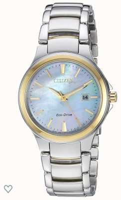 Citizen Ladies Silhouette Eco-Drive Mother Of Pearl Stainless-steel & Rose-gold IP Watch EW2524-55N