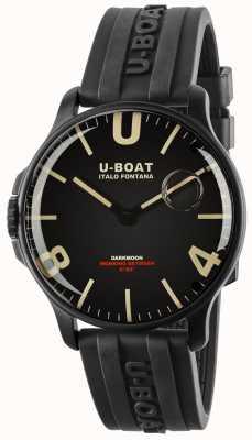 U-Boat Darkmoon 44mm Black IPB | Rubber Strap 8464-BLACK