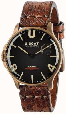 U-Boat Darkmoon 44mm Black IP Bronze | Leather Strap 8464-BRONZE