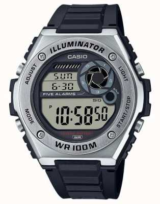 Casio Illuminator   Black Silicone Strap MWD-100H-1AVEF