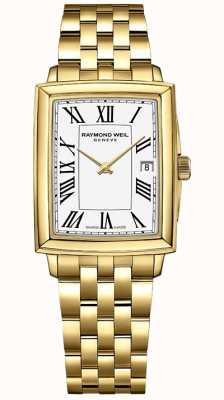 Raymond Weil Women's Toccata | Yellow Gold PVD Bracelet | White Dial | 5925-P-00300