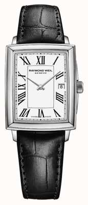 Raymond Weil Women's Toccata | Black Leather Strap | White Dial 5925-STC-00300