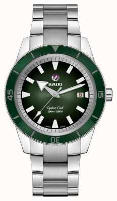 RADO Captain Cook Automatic Mens Stainless Steel Bracelet Green Dial R32105313