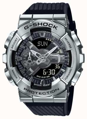 Casio G-Shock | Textured Resin Strap | Silver Dial | World Time GM-110-1AER