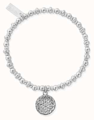 ChloBo Didi Sparkle Moonflower Bracelet | Sterling Silver SBDS697