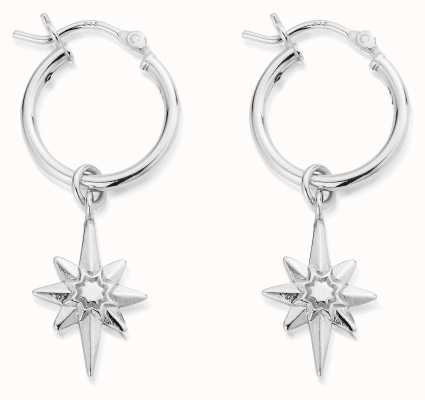 ChloBo Lucky Star Hoop Earrings | Sterling Silver SEH2066
