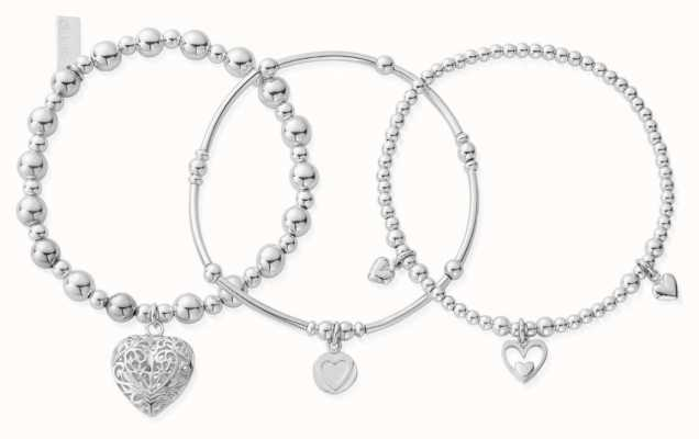 ChloBo Compassion Set Of 3 Bracelets | Sterling Silver SBSTA3L