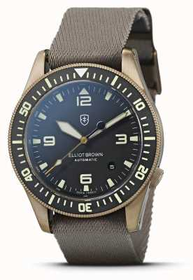 Elliot Brown Holton Automatic   Sand Webbed Strap   Black Dial   101-A12-N10