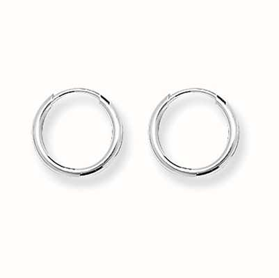 James Moore TH Silver Tiny 10mm Round Sleeper Earrings G5531