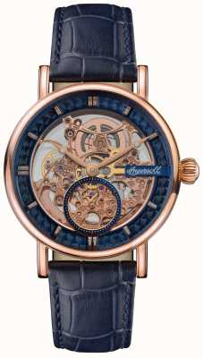 Ingersoll THE HERALD Skeletonised Dial Blue Leather Strap I00407