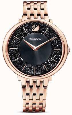 Swarovski | Crystalline Chic | Rose Gold PVD Bracelet | Black Glitter Dial | 5544587