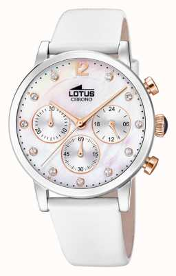 Lotus Women's White Leather Strap   Mother Of Pearl Dial L18674/1