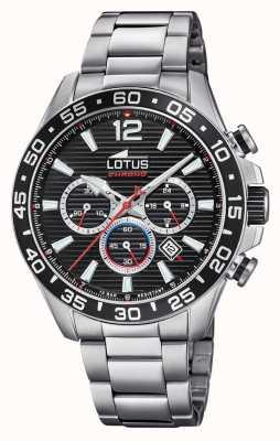 Lotus Men's Stainless Steel Bracelet | Black Chronograph Dial L18696/4