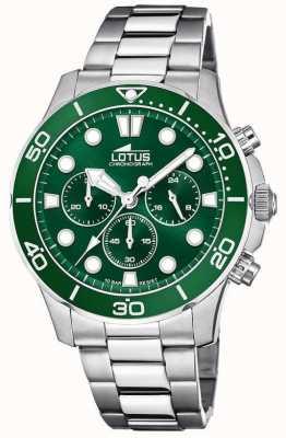 Lotus Men's Stainless Steel Bracelet | Green Chronograph Dial L18756/2