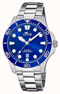 Lotus Men's Stainless Steel Bracelet | Blue Dial L18759/1
