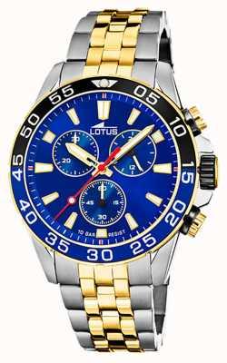 Lotus Men's Two-Tone Steel Bracelet | Blue Chronograph Dial L18767/1