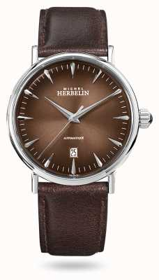 Michel Herbelin Inspiration Automatic   Men's Brown Leather Strap   Brown Dial 1647/AP27