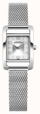 Michel Herbelin V Avenue | Steel Mesh Bracelet | Silver Rectangle Dial 17437/21B